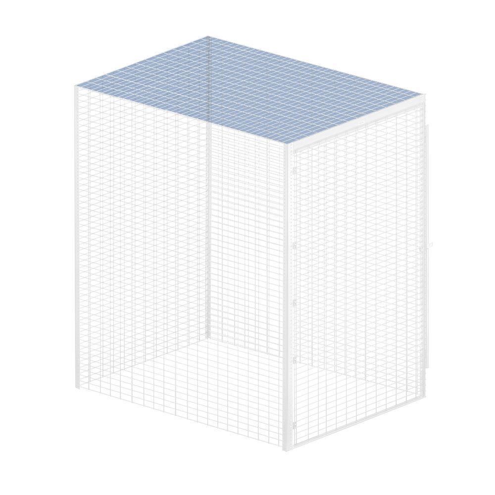 Salsbury Industries Storage Locker Option 48 in. W x 48 in. D x 0.5 in. H Top for Bulk Storage Locker in Aluminum