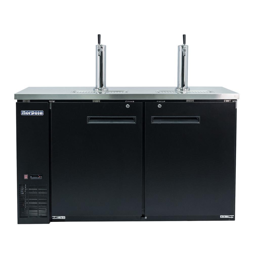 Norpole 61 In 16 Cu Ft 2 Door Direct Draw Beer Keg Dispenser With