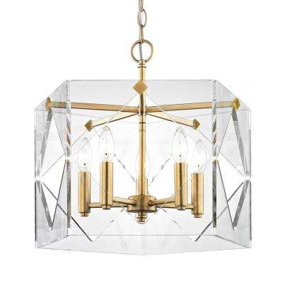 Clear drum pendant lights lighting the home depot pentos 5 light aged brass acrylic pendant aloadofball Gallery