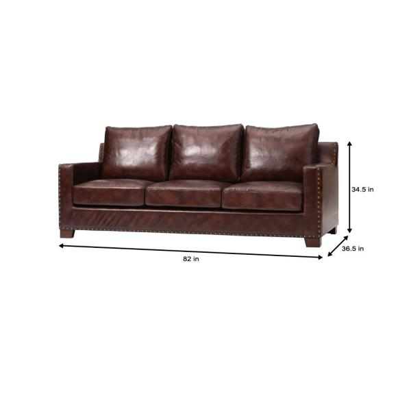 Brown Faux Leather 3 Seater Sofa, Is Faux Leather Sofa Good