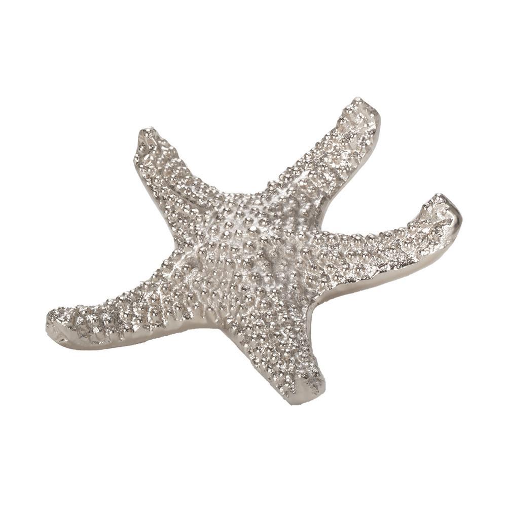7 in. Sea Star Decorative Figurine in Silver