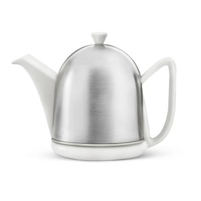 34 fl. oz. Teapot Spring White Cosy Manto Teapot with Mat