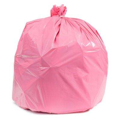 32-33 Gal. Pink Trash Bags (Case of 100)