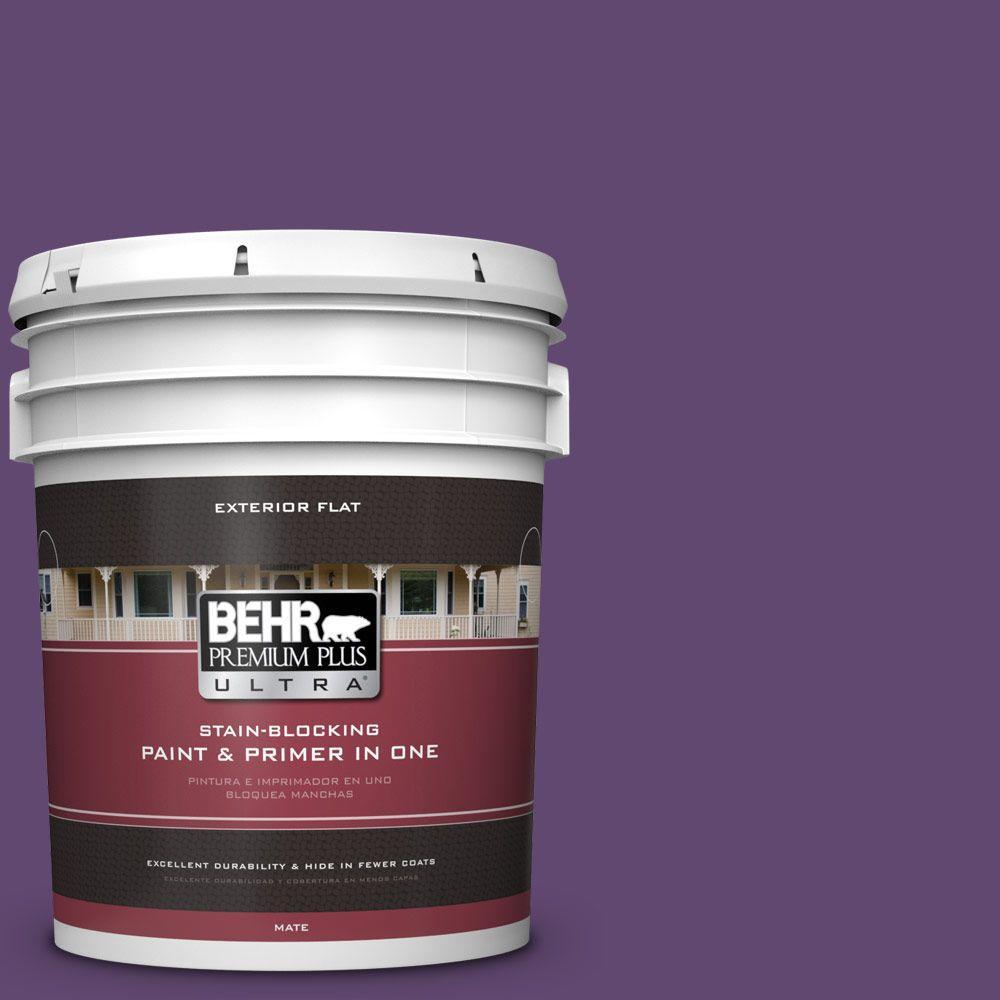 BEHR Premium Plus Ultra 5-gal. #S-G-670 Deep Violet Flat Exterior Paint