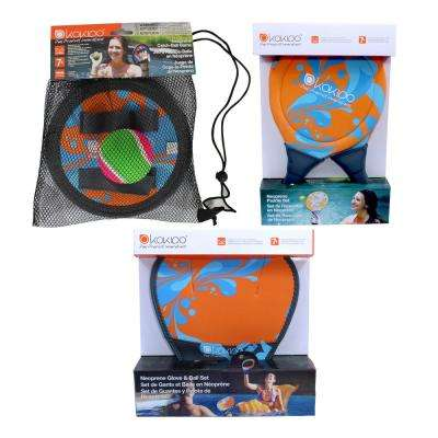 Neoprene Paddle Ball, Catch Ball, and Glove Ball Pool Party Game Combo