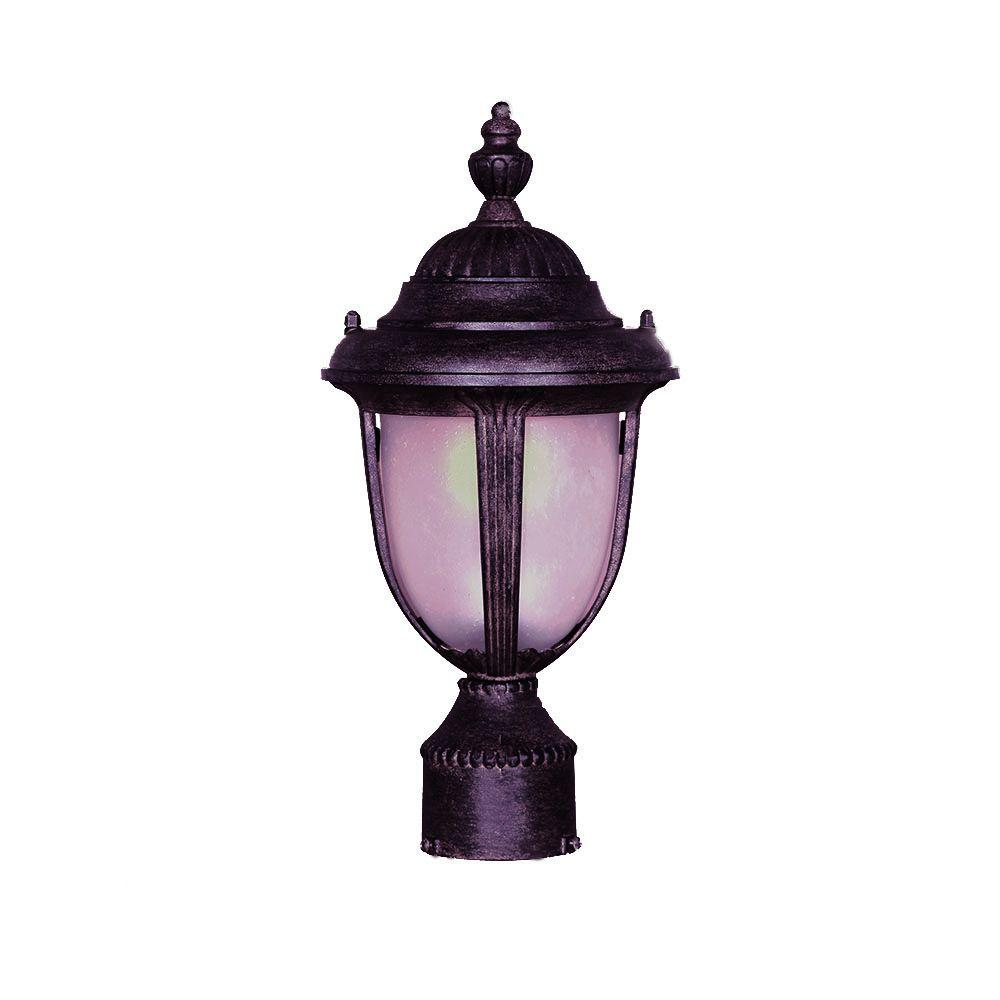 Acclaim Lighting Monterey Collection Post-Mount 1-Light Outdoor Black Coral Light Fixture