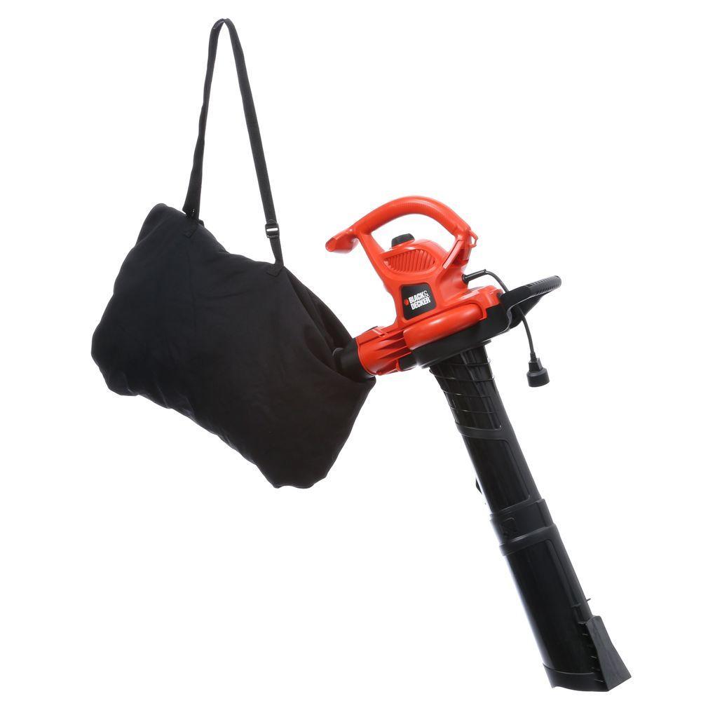 BLACK+DECKER 230 MPH 385 CFM 12-Amp Corded Electric 3-in-1 Handheld Leaf Blower/Vacuum/Mulcher