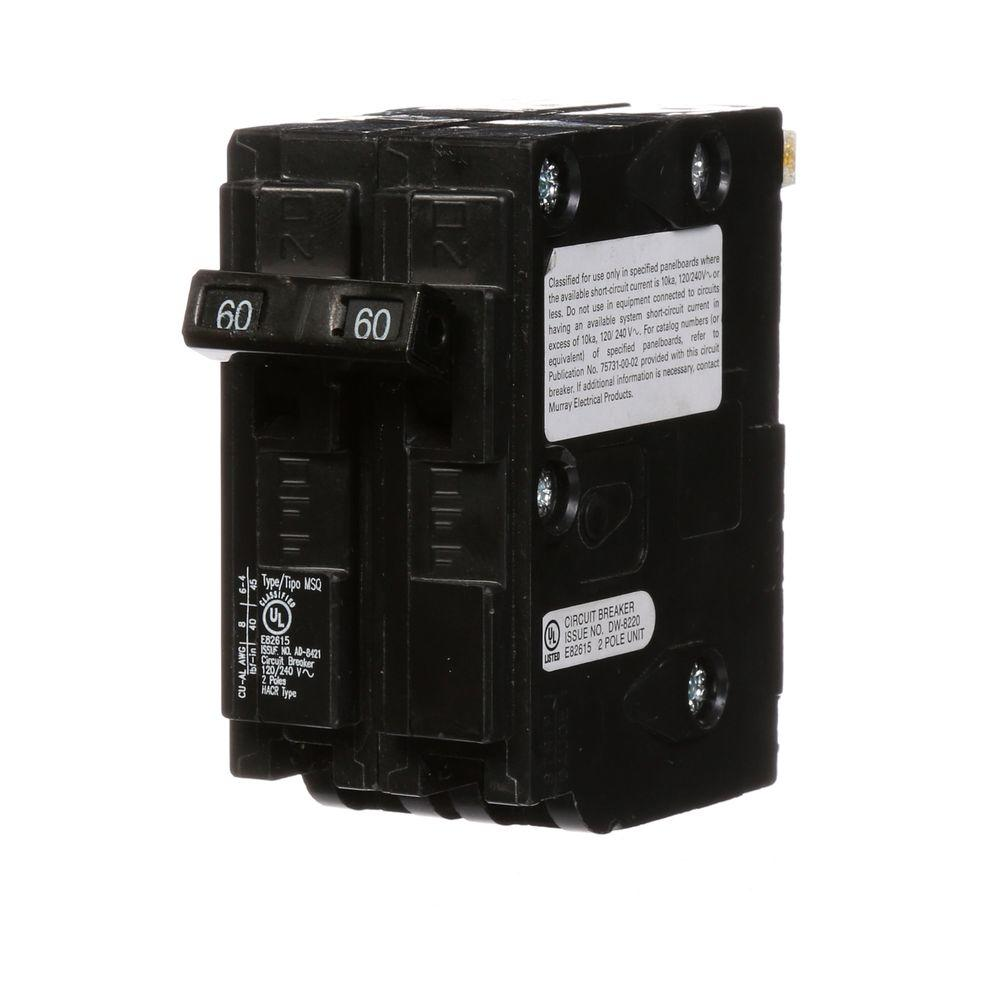 60 Amp Double-Pole Type MSQ QO Replacement Circuit Breaker
