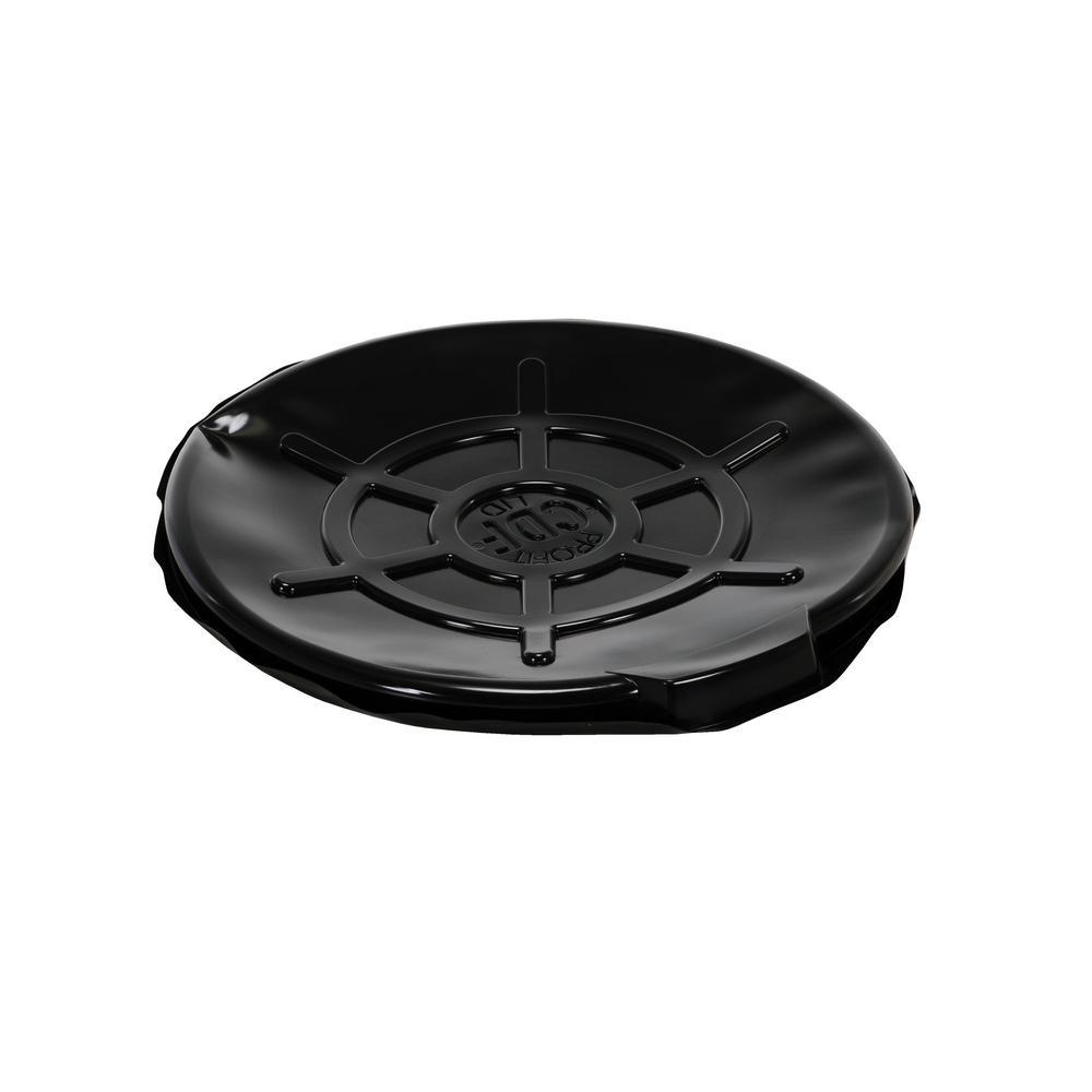 55 Gal. Drum Black Plastic Cover Open Head