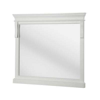 Naples 36 in. x 32 in. Framed Wall Mirror in White