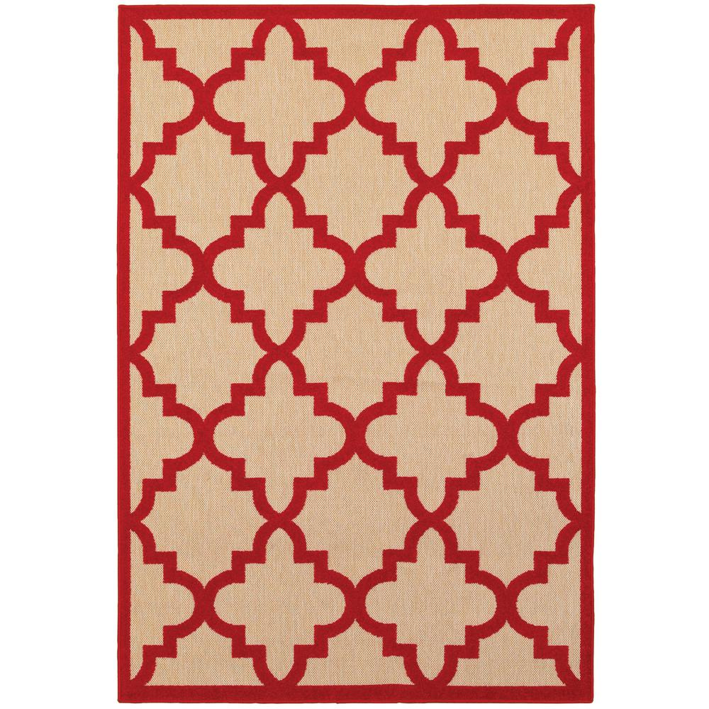 Home Decorators Collection Marina Red 8 Ft X 11 Outdoor Area Rug