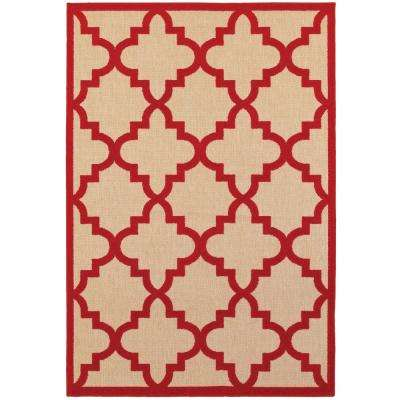 Marina Red 8 ft. x 11 ft. Outdoor Area Rug