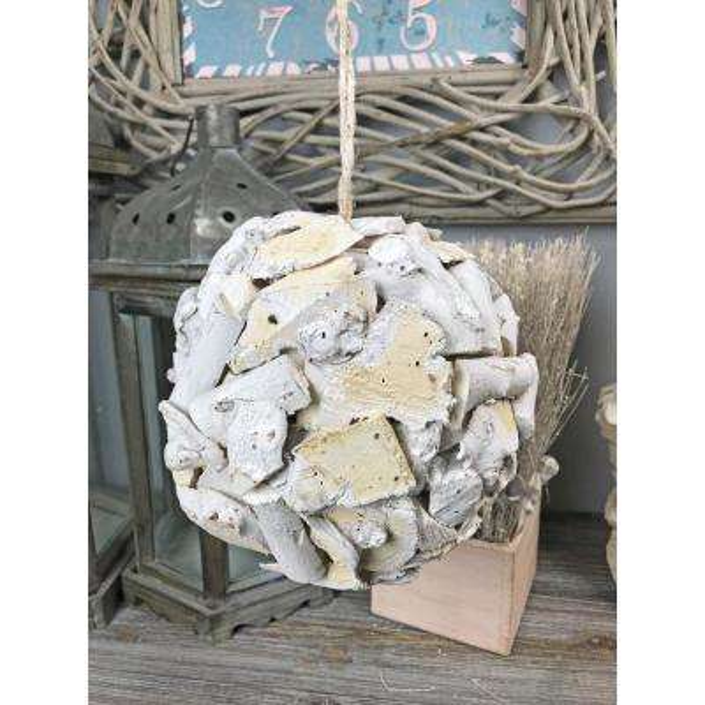Decorative Chip Medium Wood Ball