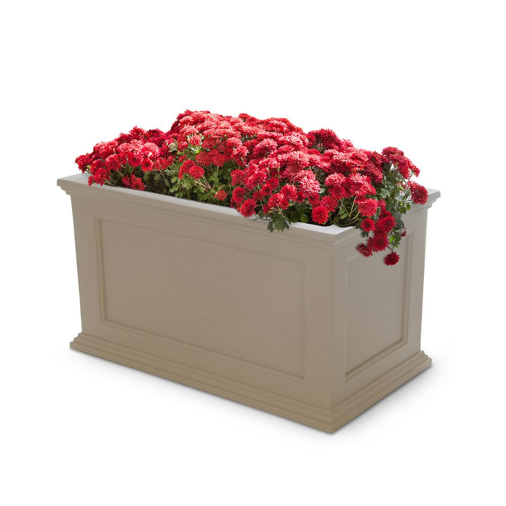 Clay Plastic Planter  sc 1 st  Home Depot & Mayne Fairfield 36 in. x 20 in. Clay Plastic Planter-5826C - The ...