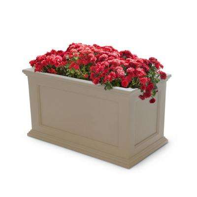 Self-Watering Fairfield 36 in. x 20 in. Clay Plastic Planter on
