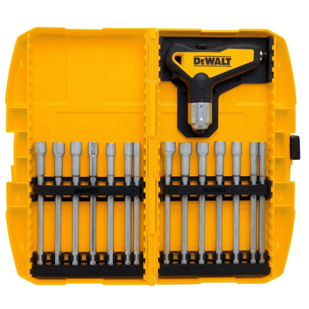 Dewalt Ratcheting T Handle Nut Driver Set Dwht70838 The