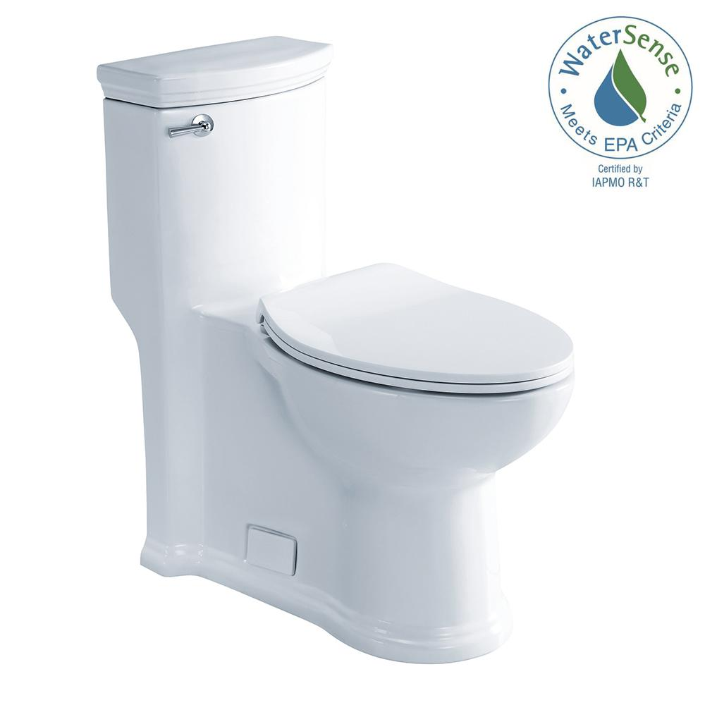 Athena 1-Piece 1.28 GPF High Efficiency Single Flush Elongated Toilet in
