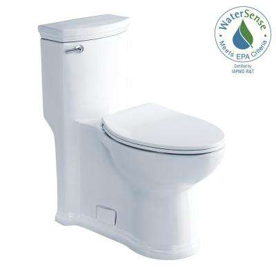 Athena 1-Piece 1.28 GPF High Efficiency Single Flush Elongated Toilet in White