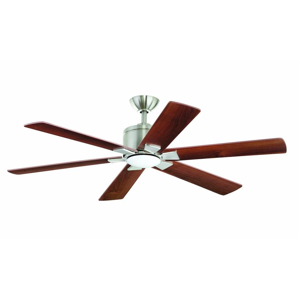 Renwick 54 in. Indoor Brushed Nickel Ceiling Fan with Light Kit