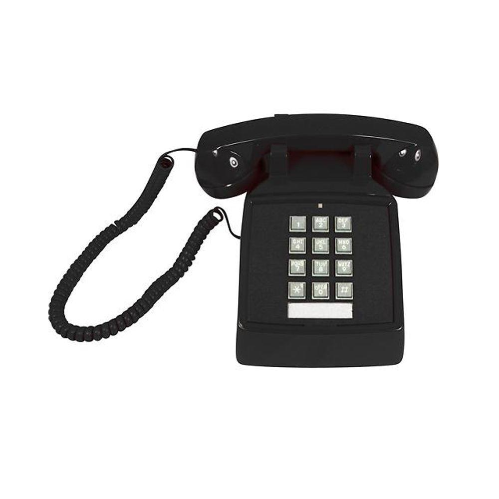 Cortelco Desk Corded Telephone with Volume Control - Black
