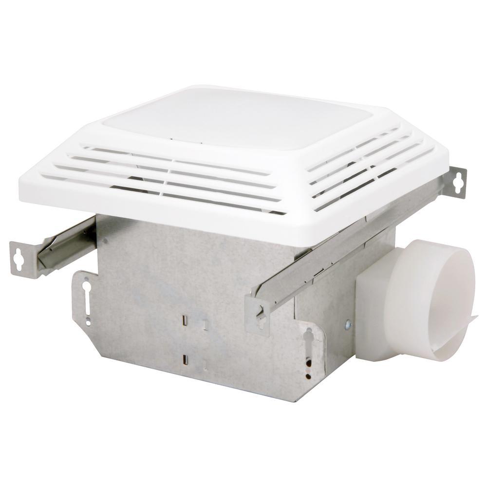 Advantage 50 CFM Ceiling Bathroom Exhaust Fan with Light