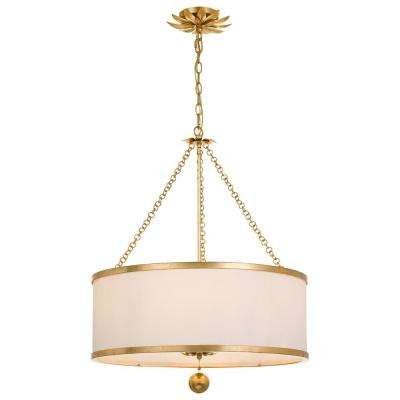 Broche 6-Light Antique Gold Chandelier