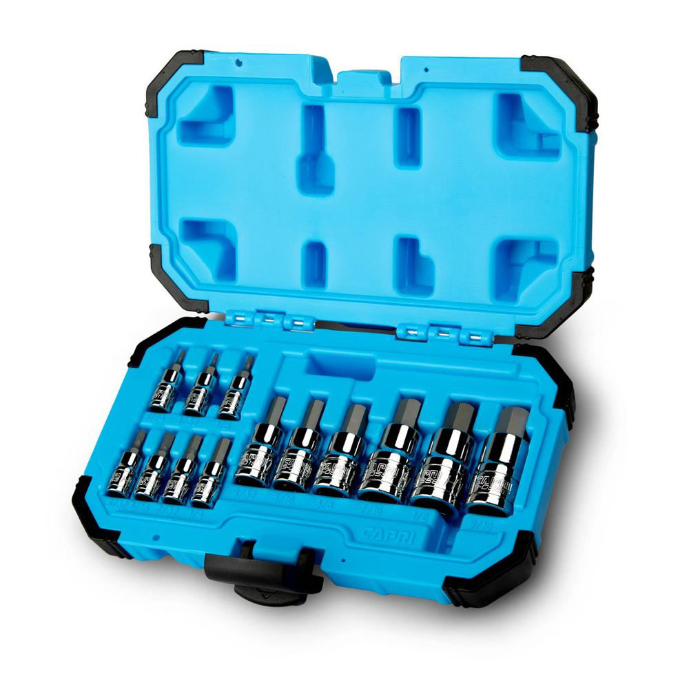 Advanced Series SAE Hex Bit Socket Set (13-Piece)
