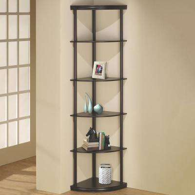 Lang Cappuccino Corner Bookcase