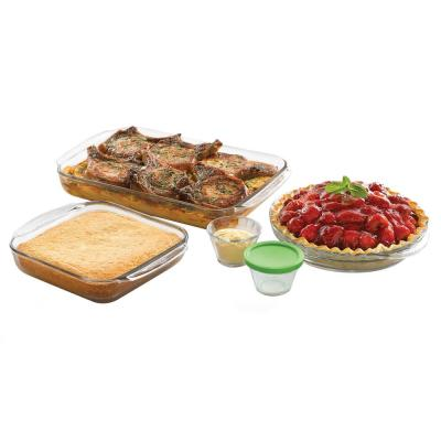 Baker's Basics 7-Piece Glass Bakeware Set with 4 Lids