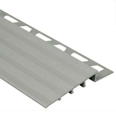 Reno-Ramp Satin Anodized Aluminum 1/4 in. x 8 ft. 2-1/2 in. Metal Reducer Tile Edging Trim