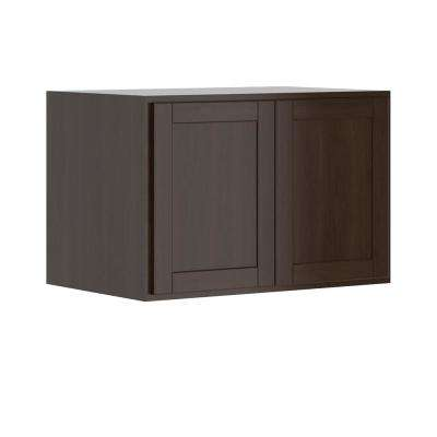 Princeton Shaker Assembled 36x24x24 in. Wall Deep Cabinet in Java