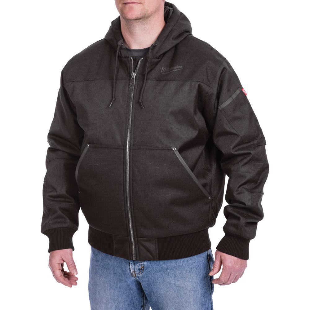 Men's Large Black Hooded Jacket
