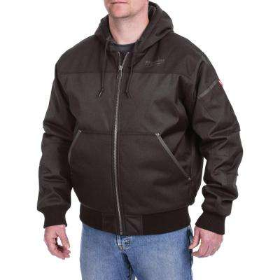 Men's Medium Black Hooded Jacket