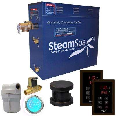 Royal 9kW QuickStart Steam Bath Generator Package with Built-In Auto Drain in Polished Oil Rubbed Bronze