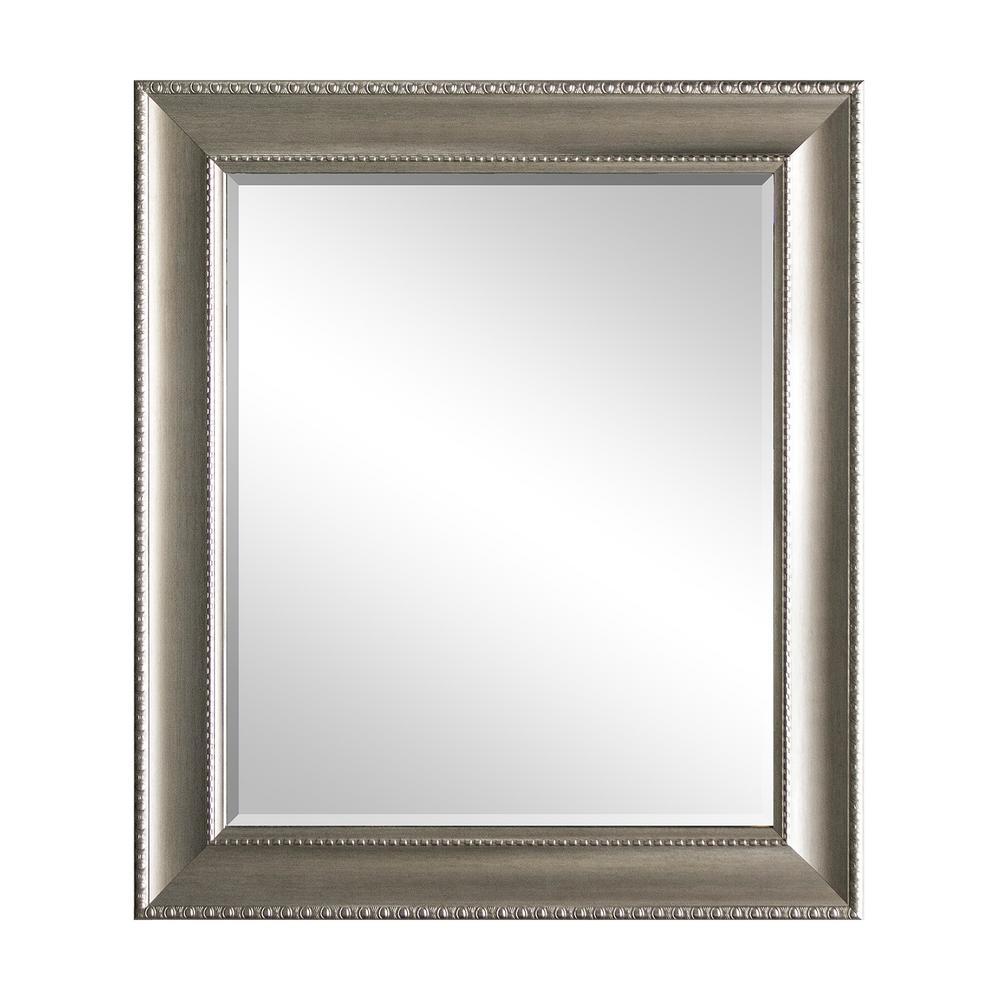 29.5 in. x 35.5 in Champagne Decorative Mirror