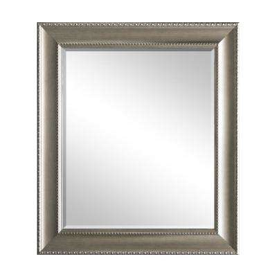 29.5 in. x 35.5 in Champagne Decorative Mirror