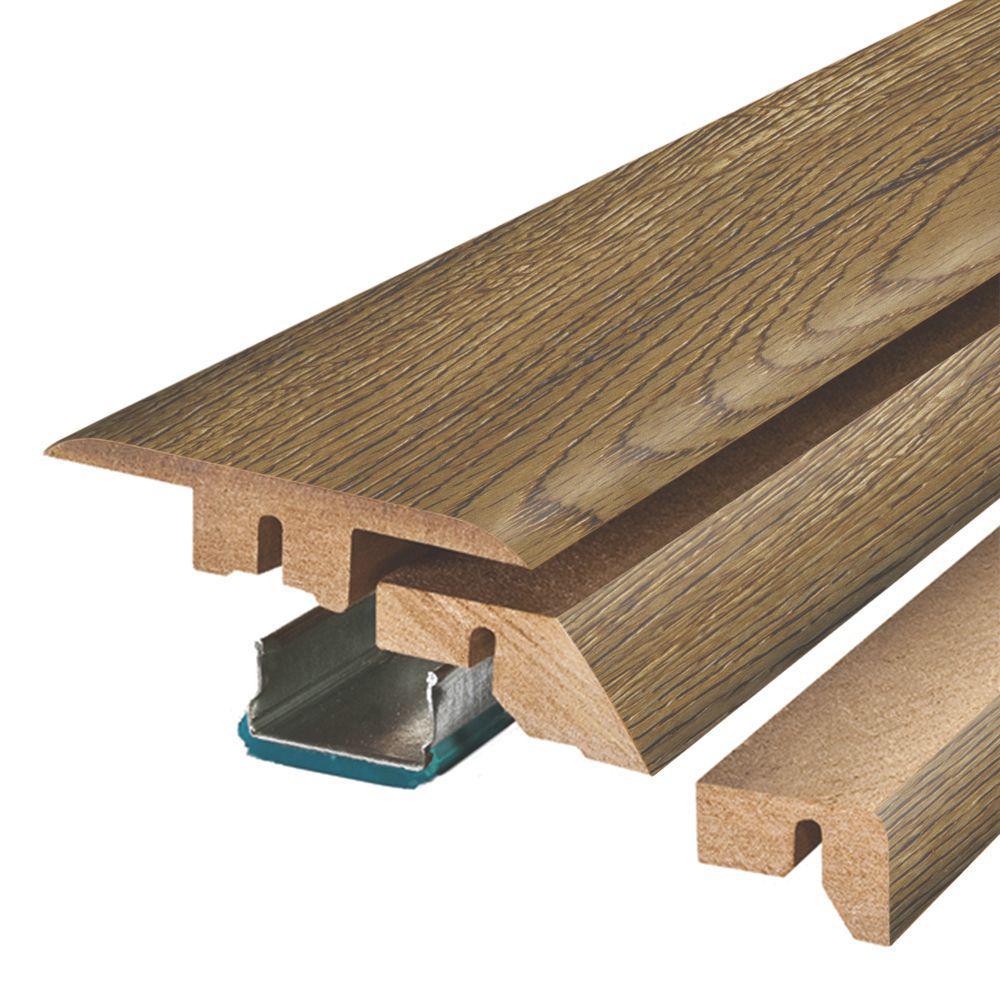 Chestnut Beluga Oak 3/4 in. Thick x 2-1/8 in. Wide x 78-3/4 in. Length Laminate 4-in-1 Molding