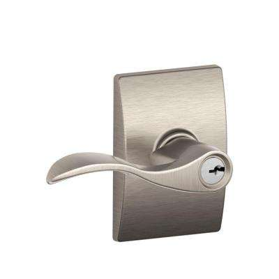 Century Collection Satin Nickel Accent Keyed Entry Lever