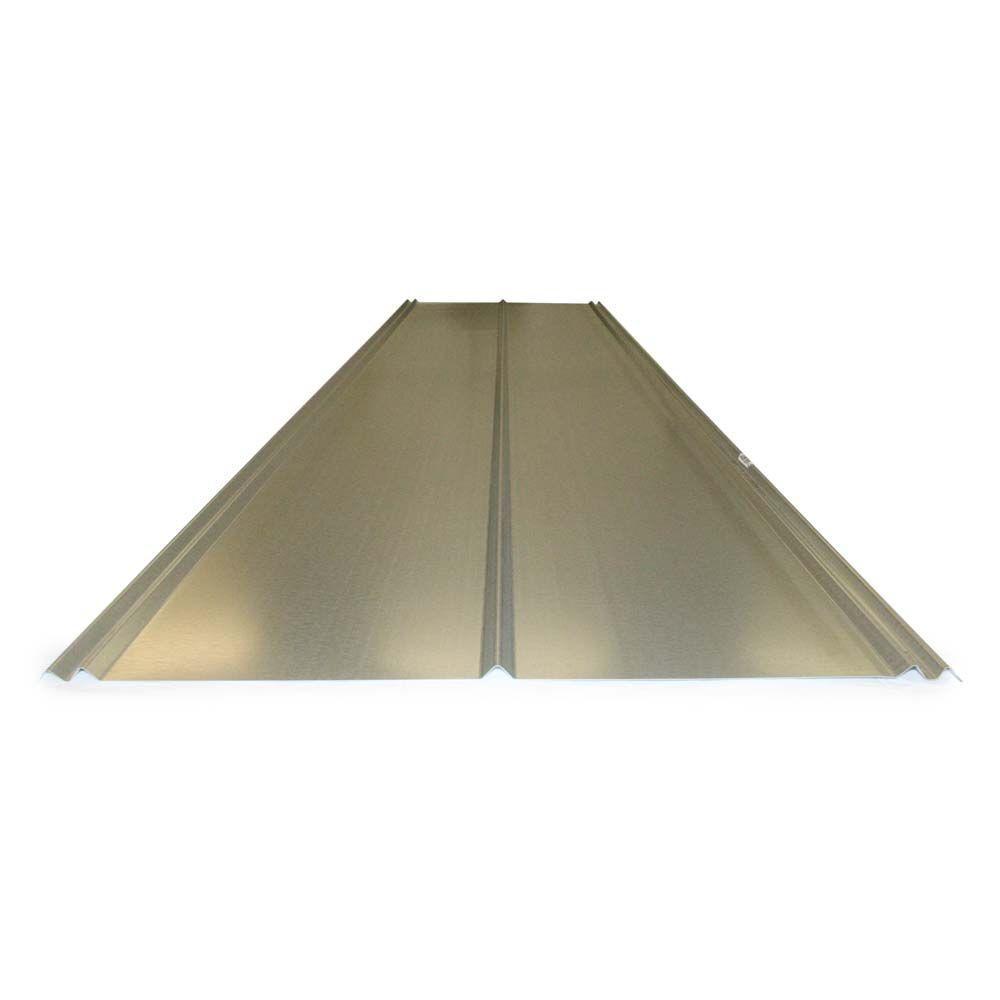 Gibraltar Building Products 12 Ft. 5V Crimp Galvanized Steel 29 Gauge Roof  Panel 13343   The Home Depot