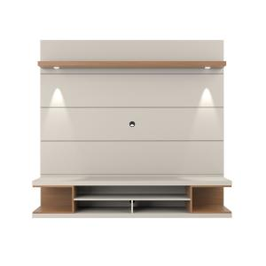Utopia Off White and Maple Cream Floating Theater Entertainment Center