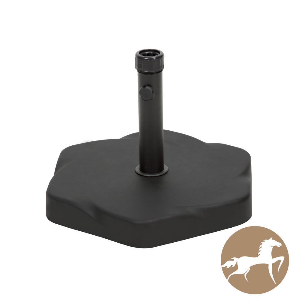 Noble House 65 lbs. Hexagon Concrete Patio Umbrella Base in Black