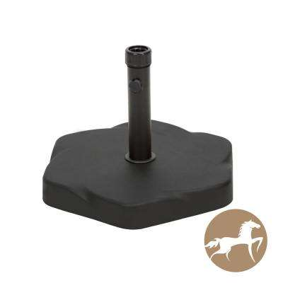65 lbs. Hexagon Concrete Patio Umbrella Base in Black