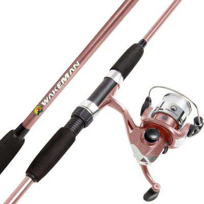 Swarm Series Spinning Rod and Reel Combo in Rose Pink