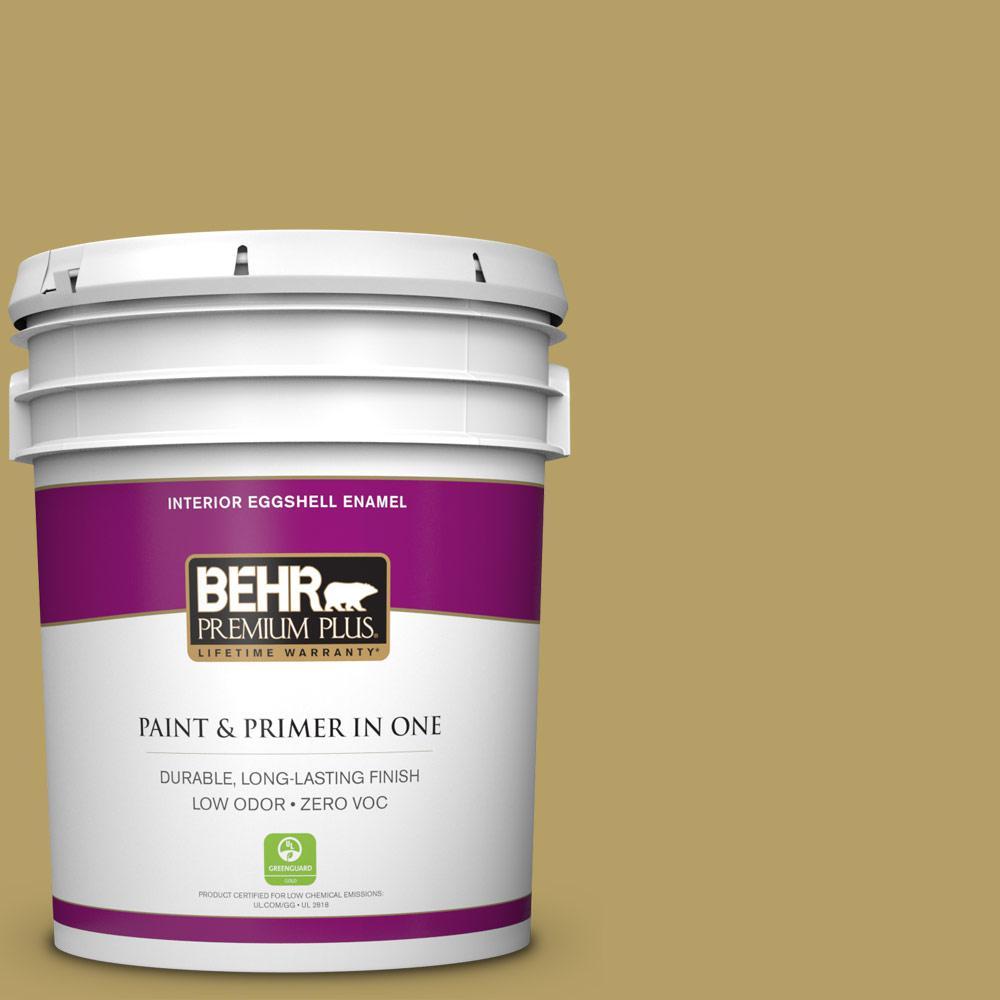BEHR Premium Plus 5 gal. #PPU6-19 Chameleon Zero VOC Eggshell Enamel Interior Paint
