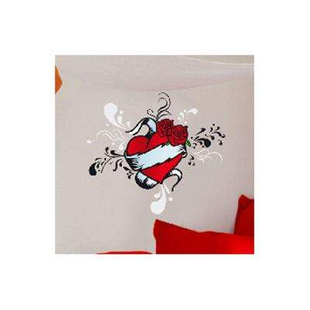 36 in. H x 36 in. D 12-Piece Tattoo Heart Wall Sticker (2-Sheets)