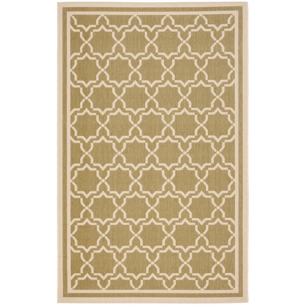 Safavieh Courtyard Green/Beige 8 ft. x 11 ft. Indoor/Outdoor Area Rug