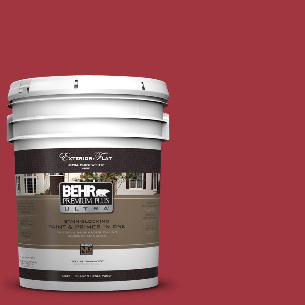 BEHR Premium Plus Ultra 5-gal. #UL100-7 Geranium Flat Exterior Paint