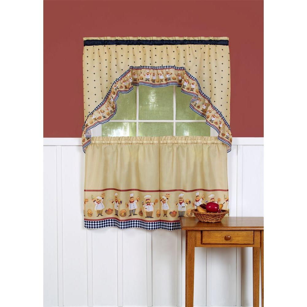 Semi-Opaque Cucina Tailored Polyester 57 in. W x 24 in. L