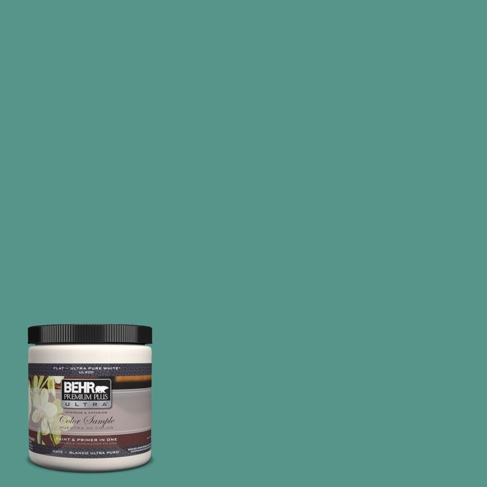 BEHR Premium Plus Ultra 8 oz. #490D-6 Thermal Spring Interior/Exterior Paint Sample