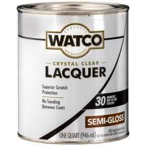 Watco 1 qt  Clear Gloss Lacquer Wood Finish-63041 - The Home